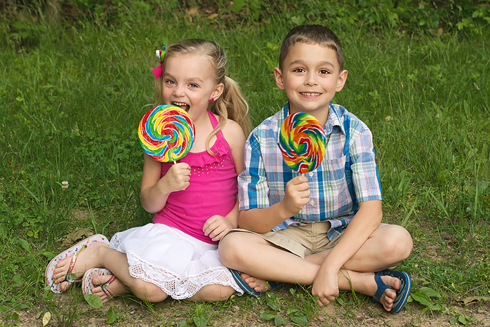 Kids With Lolly Pops