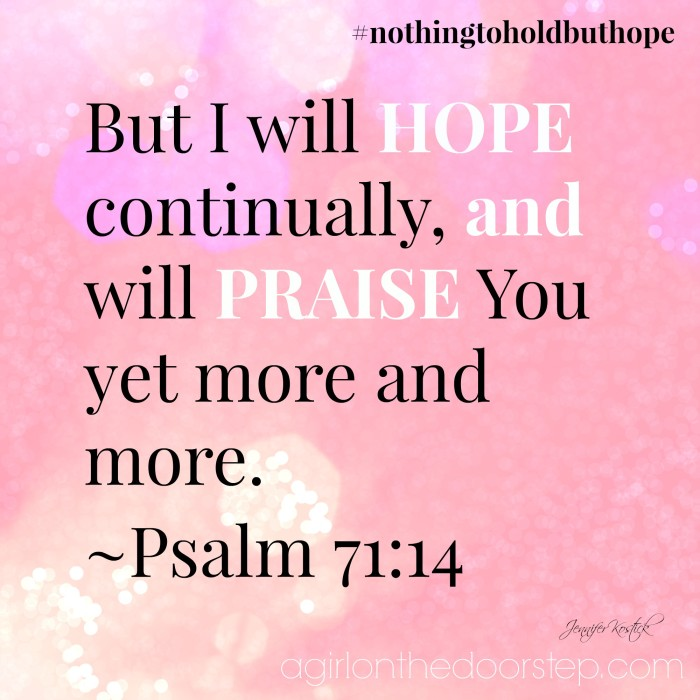 Hope and Praise